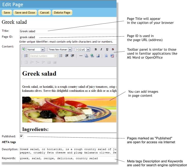 WebAsyst Страницы - это инструмент для быстрого создания веб-страниц